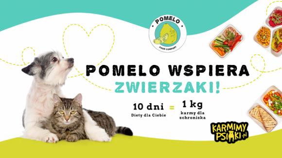 """PO RAZ PIERWSZY STARTUJE AKCJA """"POMELO WSPIERA ZWIERZAKI"""" LIFESTYLE, Zwierzęta - W 2018 roku w schroniskach w Polsce przebywało 107 325 psów oraz 29 326 kotów. Chcąc im pomóc, catering dietetyczny Pomelo, we współpracy z Fundacją Sarigato zorganizował akcję """"Pomelo wspiera zwierzaki"""", w ramach której przekaże nawet tonę pełnowartościowej karmy."""